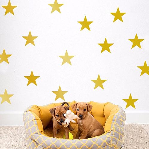 מדבקות קיר כוכבים לעיצוב חדר הילדים והבית