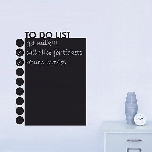 To Do List - מדבקת קיר - לוח גיר - דברים שצריך לעשות