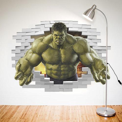 Incredible Hulk - מדבקת קיר הענק הירוק / הענק המדהים