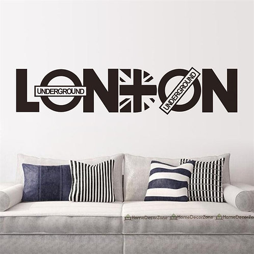 LONDON - מדבקת קיר - לונדון