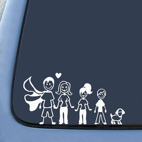 Family - מדבקת קיר לרכב - המשפחה