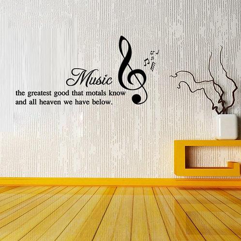 Music is the greatest good - מדבקת קיר מוסיקה היא הדבר הטוב ביותר