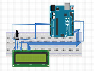 How to connect an arduino board with an LCD screen