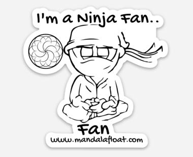Ninja Fan Sticker