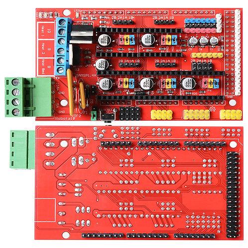 RAMPS Board v1.4 fully assembled