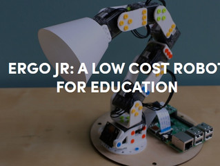 Poppy Ergo Jr: How to build an open source and open hardware 3D printed robot for education