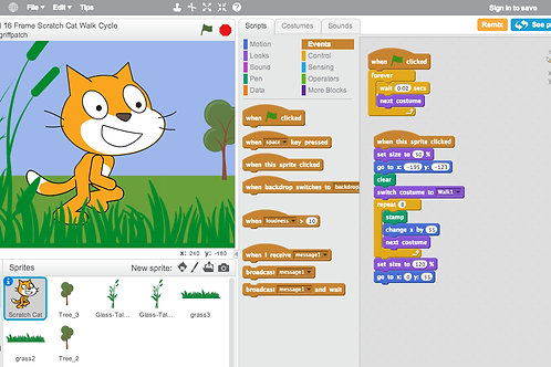 "Camp: Create a video game with Scratch Junior ""Tiny maker - 1week''"