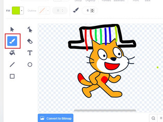 How to draw and create a character for your video game on Scratch