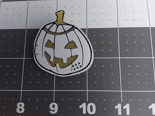 Pin Badge - Pumpkin head