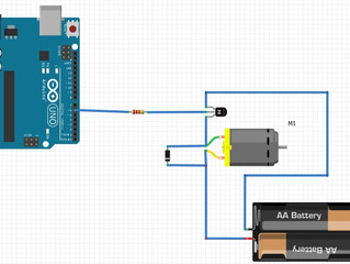 How to control a DC motor with an Arduino Uno board and a transistor