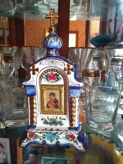 Христианский православный киот с технике Гжель