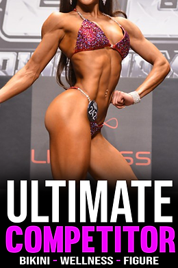 TeamFFLEX Ultimate Competitor Online coaching contest prep program for womens divisions such as npc and ifbb wellness, bikini, figure and womens physique. Bikini competitor wearing red bikini on npc and ifbb stage