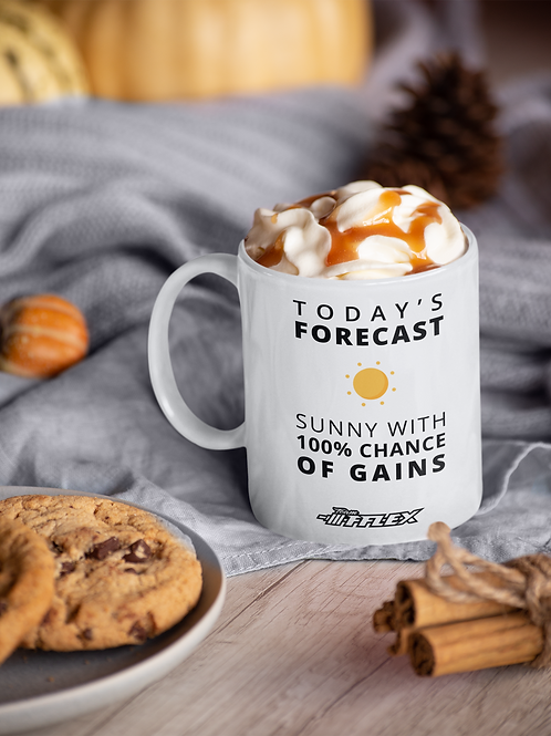 Sunny With A Chance Of Gains Mug