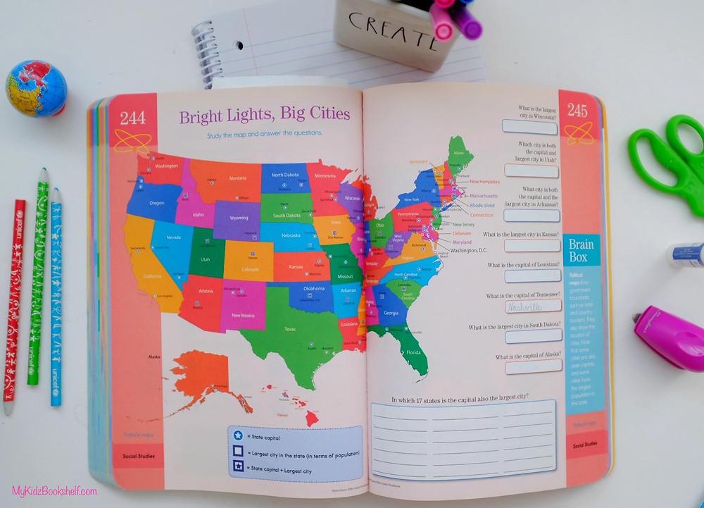 Brain quest workbook page United States