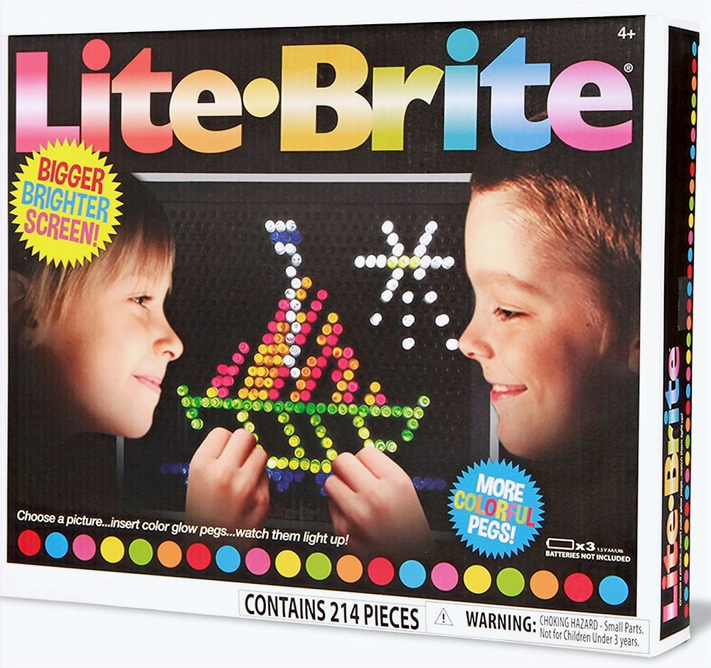 Lite Brite retro toy more colorful pegs and bigger brighter screen