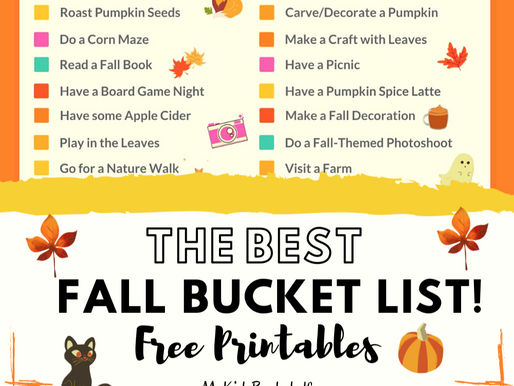 The Best Fall Bucket List Free Printables for a Super Fun Autumn!