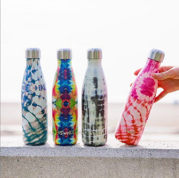 S'well water bottles in Tie Dye Great Gifts for Grads