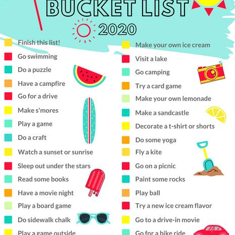 Summer Bucket List Umbrella Printable