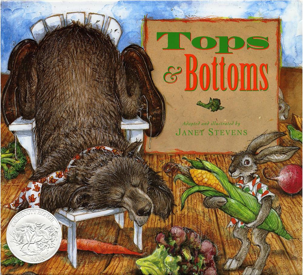 Tops & Bottoms picture book fun garden book