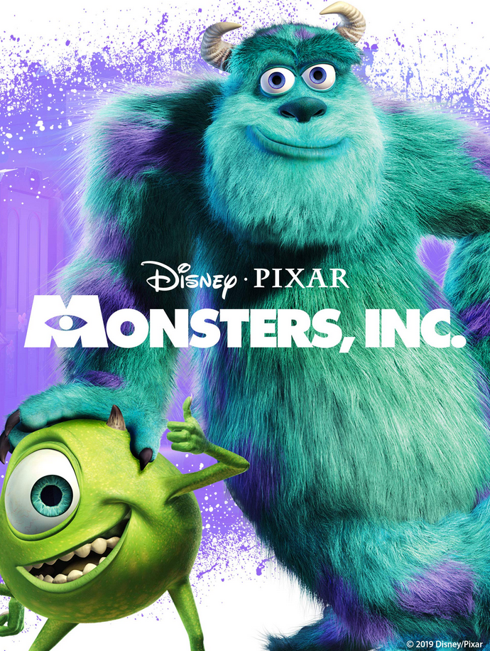 poster-of-Mosters,Inc-by-Disney-with-two-smiling-monsters