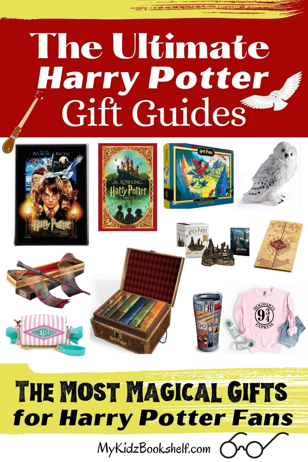 Ultimate Gift Guides for Harry Potter Fans Pinterest Pin