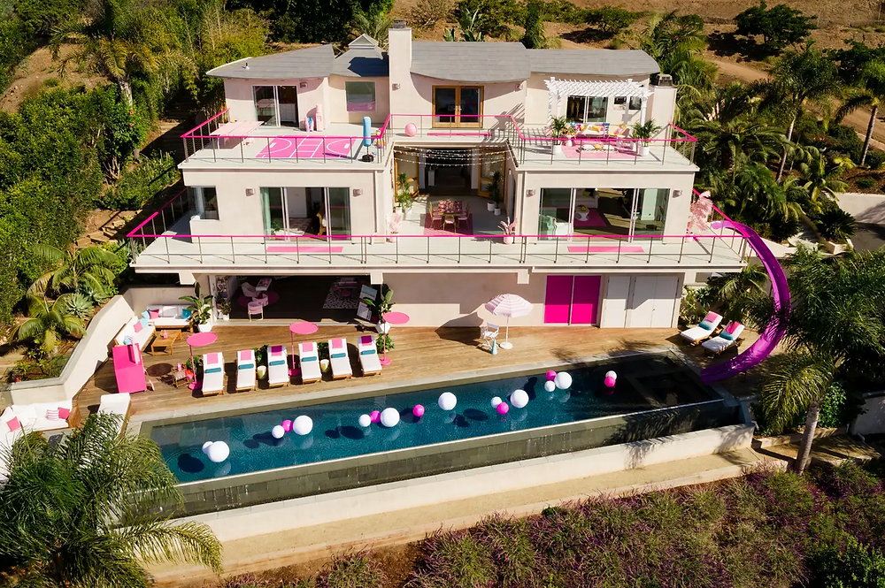 airbnb of Barbie's Malibu mansion is a real life replica of Barbie's Malibu Mansion