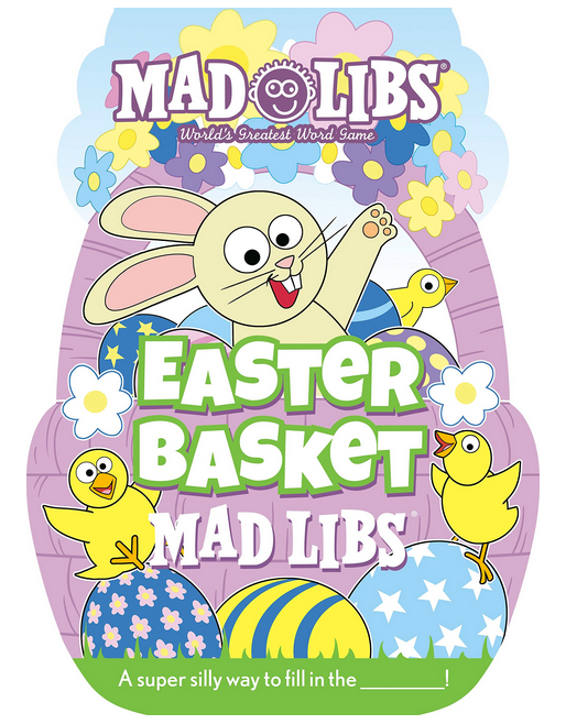 Mad Libs Easter Basket Mad Libs has picture of wild eyed bunny in Easter basket surrounded by chicks!