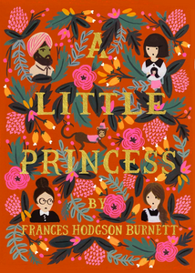 four-faces-in-each-corner-of-the-book-cover-one-from-India-one-little-girl-holding-a-doll-one-lady-with-glasses-one-girl-with-long-hair-flowers-and-leaves-cover-the-book-like-a-tapestry