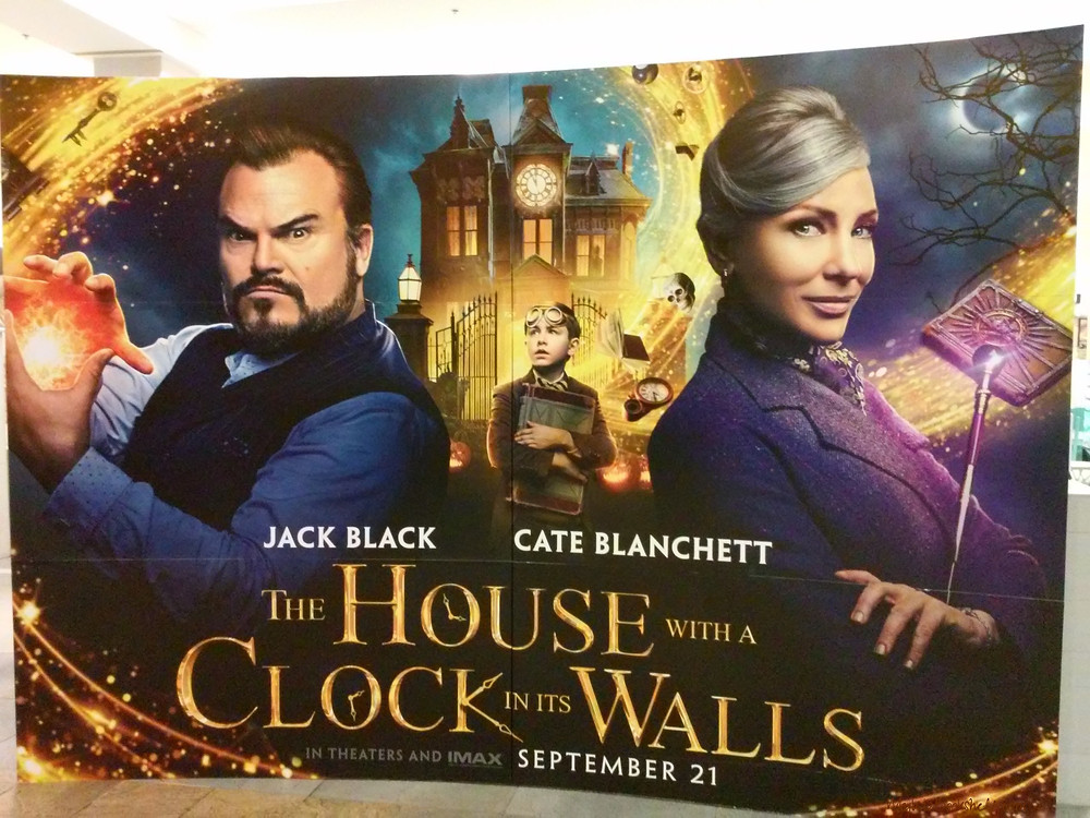 The-House-With-A-Clock-in-its-Walls big movie poster with Jack Black and Cate Blanchett