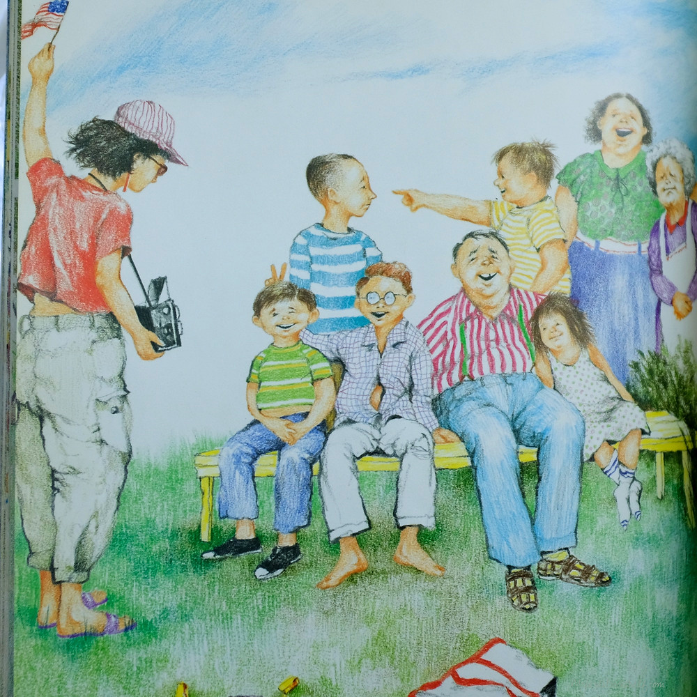 illustration from The Relatives Came by Cynthia Rylant