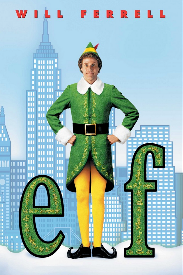 DVD cover of Christmas movie ELF with Will Ferrell