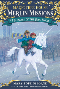 book-cover-with-boy-and-girl-riding-on-a-white-unicorn-in-a-blizzard