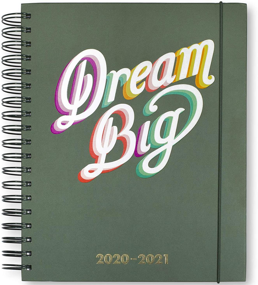 Kate Spade Planner notebook dream big green cover spiralbound hardcover