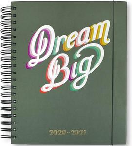 Kate Spade Planner notebook dream big green cover spiralbound hardcover
