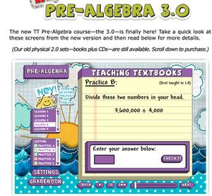 Screenshot - Teaching Textbooks - Pre Algebra