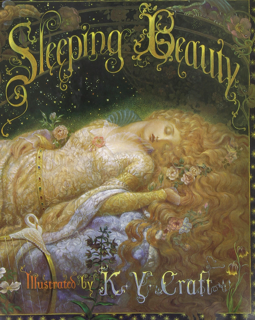 Sleeping-Beauty-Book-illustrated-by-K-Y-Craft
