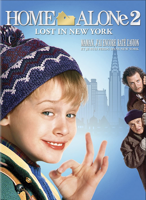 Home Alone 2 Lost in New York Dvd Christmas movie with boy and the bandits on cover