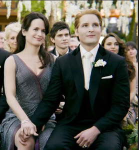 Esme and Carlisle from Twilight movie at Bella and Edward's wedding