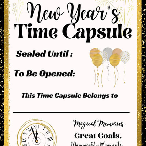 New Year's Time Capsule Cover Printable