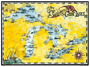 map-of-the-great-lakes-with-illustrated-ships-that-went-down-poster