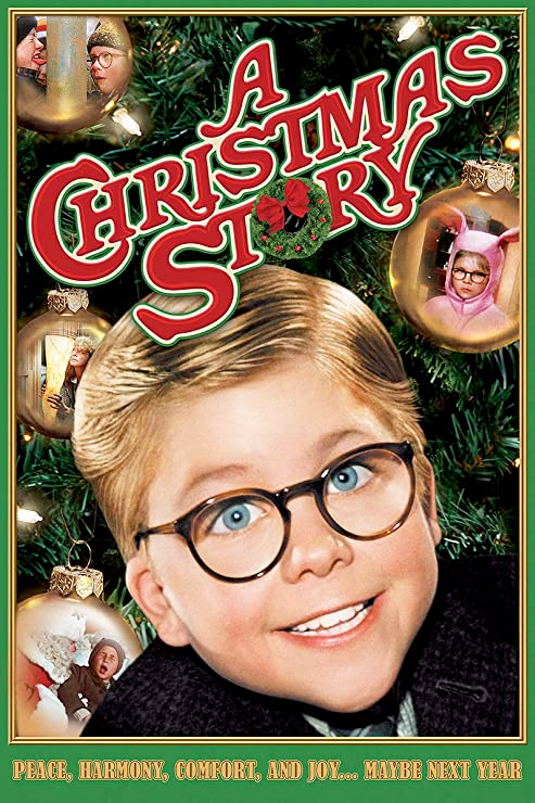 A Christmas Story DVD cover with Ralphie and scenes from the movie