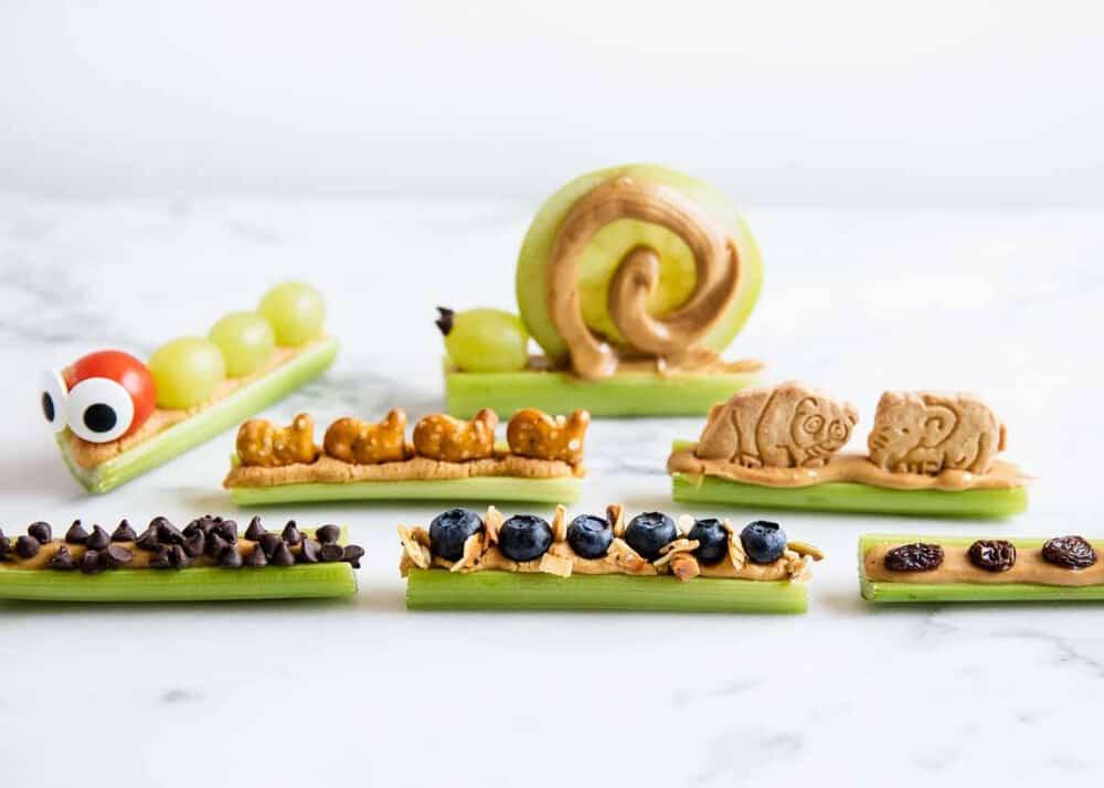 snack celery ants on a log
