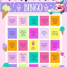 Ice Cream Club Bingo Printable