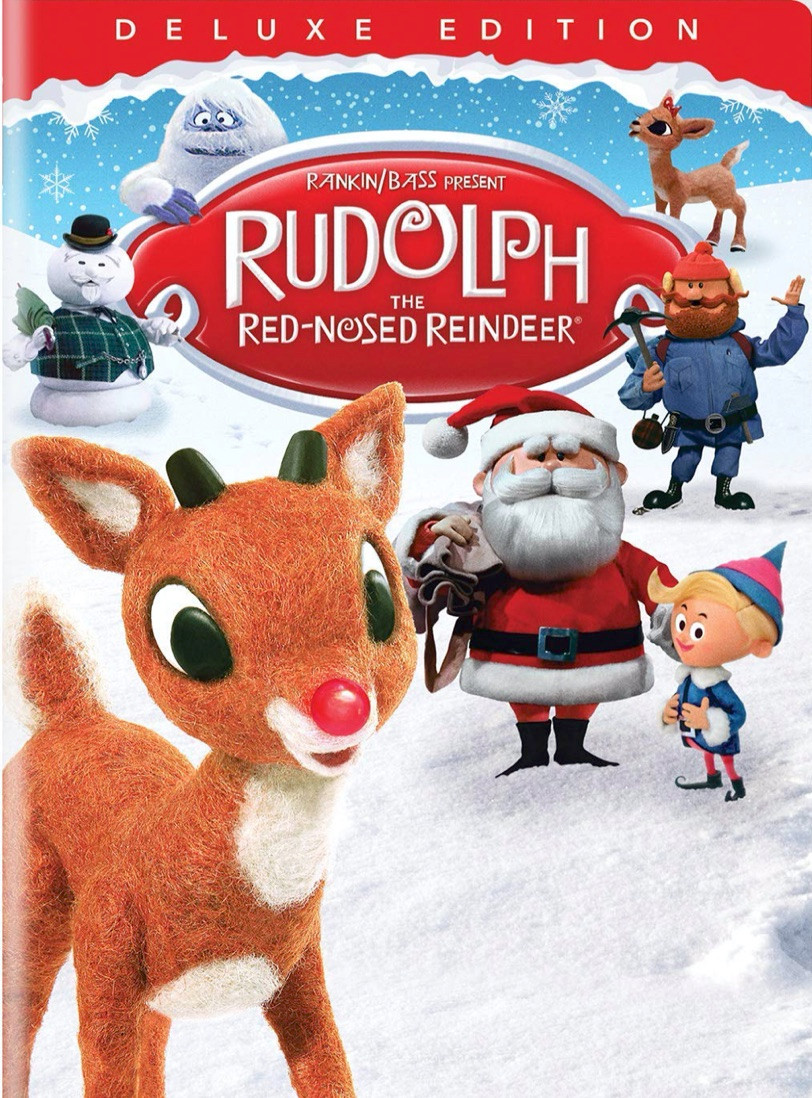 Rudolph the Red-Nosed Reindeer dvd cover with Rudolph, Sam, Abominable Snowman, Yukon Cornelius