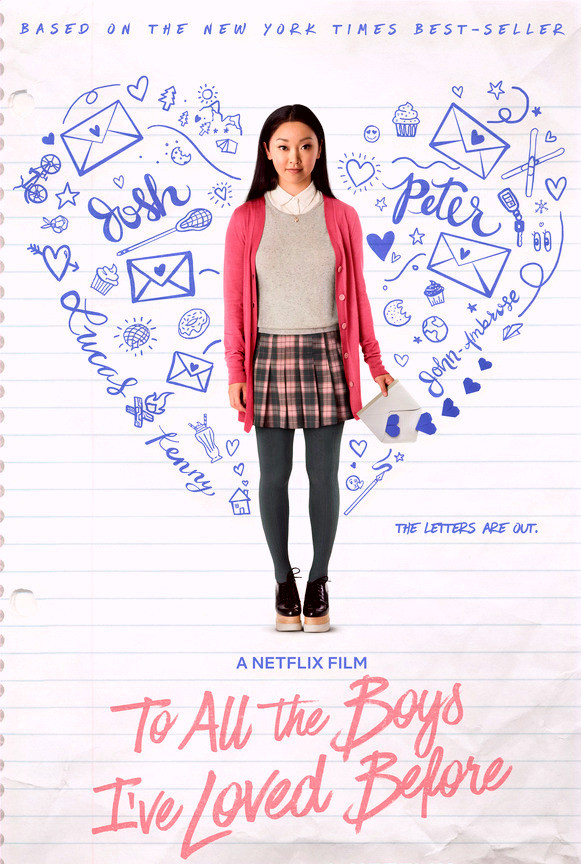 To All the Boys I've Loved Before movie poster with Lara Jean standing in the center