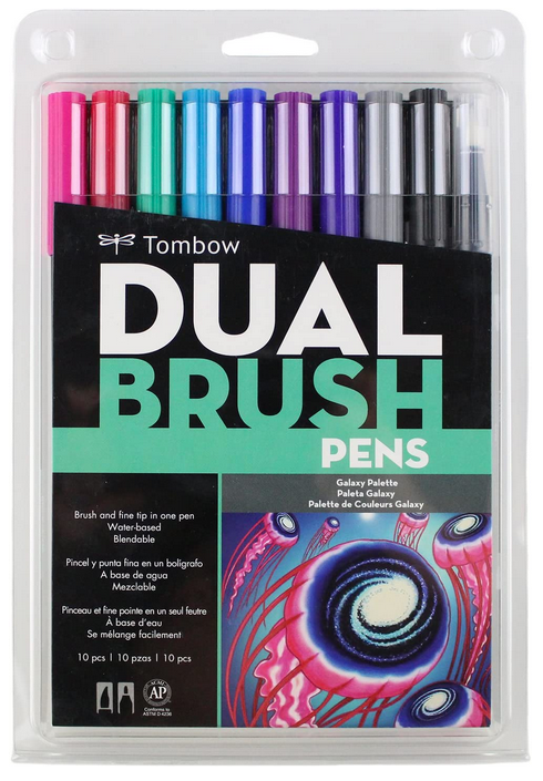 Graduation Gift Ideas Tom Bow Dual Brush Pens Galaxy colors