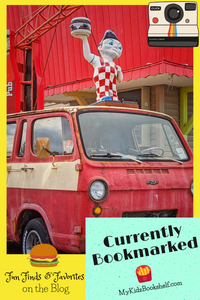 pinable image burger boy statue on old van car red