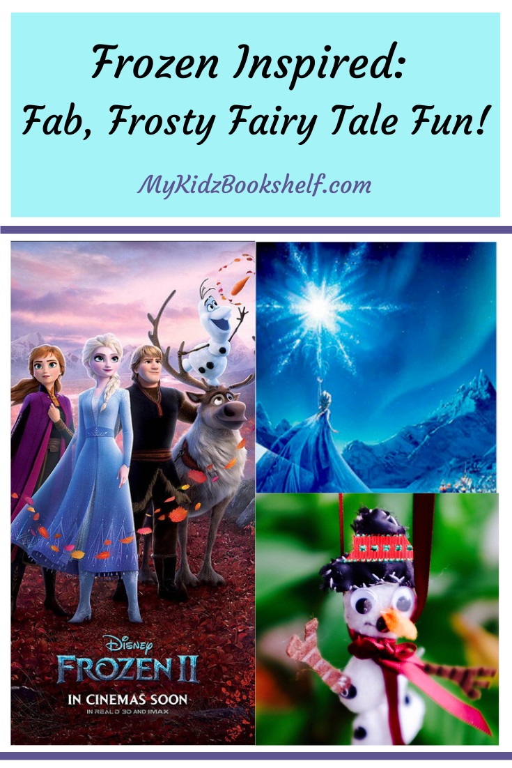 Pinterest-pin-showing-characters-from-Frozen-2-Elsa-reaching-for-snowflake-star