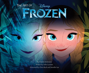 Book-cover-with-faces-of-Elsa-and-Anna-close-up