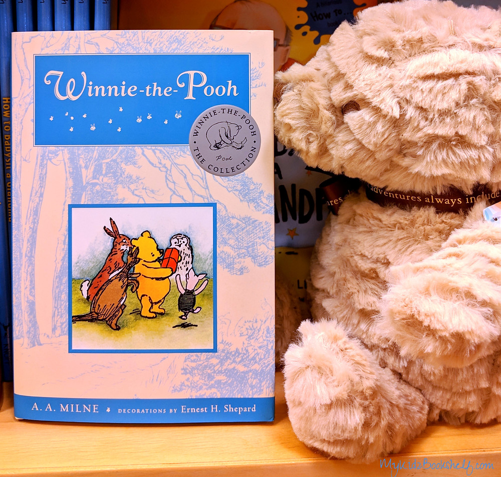 Winnie the Pooh book and bear